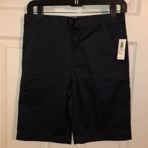 Boys navy blue school uniform shorts